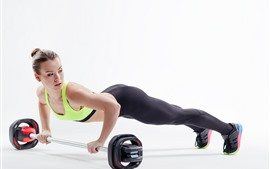 Fitness girl, slim, sport