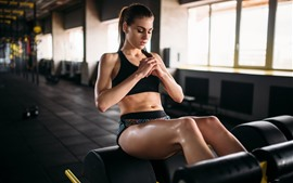 Preview wallpaper Fitness girl, sport, gym