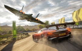 Preview wallpaper Forza Horizon 4, Aston Martin supercar speed