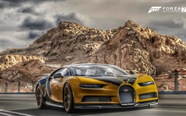 Preview wallpaper Forza Motorsport 7, Bugatti yellow supercar