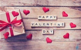 Preview wallpaper Happy Valentine's day, gift, love hearts