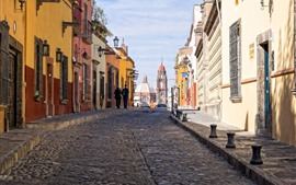 Mexico, city, buildings, street