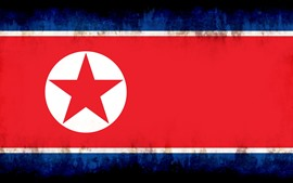 Preview wallpaper North Korea flag, creative picture