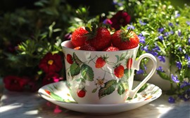 One cup of strawberry, fruit