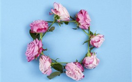 Preview wallpaper Pink roses wreath