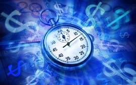 Preview wallpaper Pocket watch, currency, creative picture