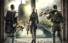 Preview wallpaper The Division 2, city, soldiers, PC game