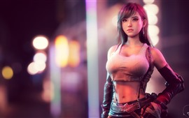 Tifa Lockhart, beautiful girl, Final Fantasy