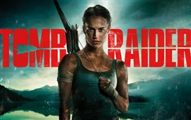 Preview wallpaper Tomb Raider, Lara Croft, arrows, 2018 movie