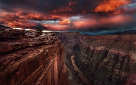 Preview wallpaper USA, canyon, valley, river, sunset