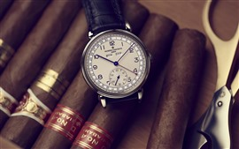 Preview wallpaper Vacheron Constantin watch, cigar