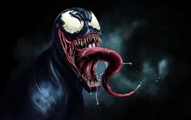 Preview wallpaper Venom, DC comics, art picture, black background
