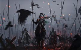 Guerreros, armaduras, caballeros, guerras, imágenes artísticas