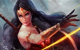 Wonder Woman, DC comic, art picture