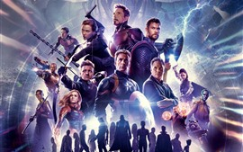 Preview wallpaper 2019 movie, Avengers 4: Endgame, Marvel superheroes