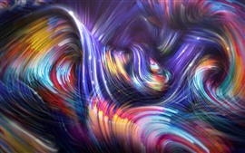 Preview wallpaper Abstract picture, colorful background, curves, lines