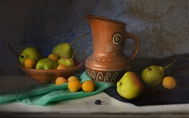 Apricots and pears, kettle