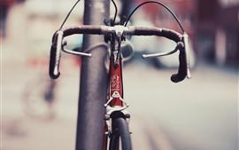 미리보기 배경 화면 자전거, 거리, 흐릿한