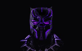 Preview wallpaper Black Panther, mask, Marvel hero