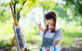 Preview wallpaper Chinese girl, painting, colorful