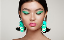 Preview wallpaper Fashion girl, makeup, earring, decoration, art photography