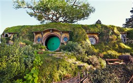 Preview wallpaper Hobbit house