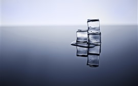 Preview wallpaper Ice cubes, reflection