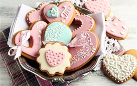 Preview wallpaper Love heart cookies, food