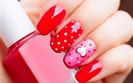 Manicure, dedos, unhas, pintar