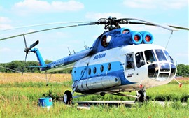 Preview wallpaper Mi-8 helicopter, grass