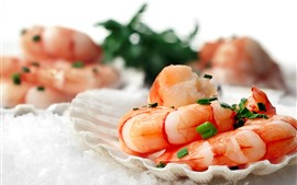 Preview wallpaper Shrimp, seafood, food