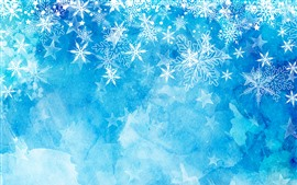 Preview wallpaper Snowflakes, blue background, Christmas theme