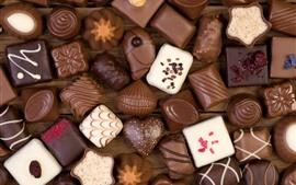 Aperçu fond d'écran Certains types de bonbons sucrés, chocolat