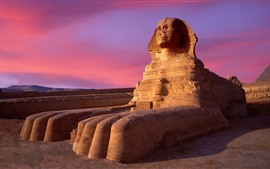 Preview wallpaper Sphinx, Egypt, dusk