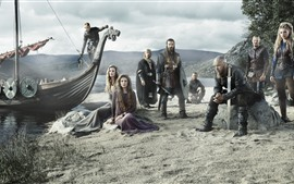 Preview wallpaper The Vikings, TV series, warriors, boat