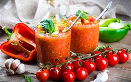 Preview wallpaper Tomatoes, smoothies, juice, peppers
