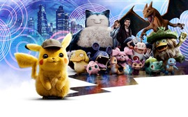 Preview wallpaper 2019 movie, Pokemon Detective Pikachu