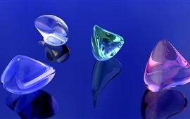 Preview wallpaper 3D crystal, colorful, creative picture