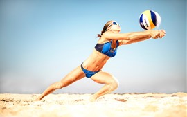 Preview wallpaper Beach volleyball, athlete, girl