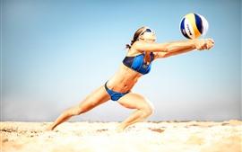 Vôlei de praia, atleta, menina