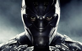 Preview wallpaper Black Panther, mask, superhero