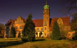 Preview wallpaper Castle Ulenburg, Germany, trees, shadow