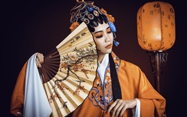 Preview wallpaper Chinese girl, Peking Opera Dress Up, culture