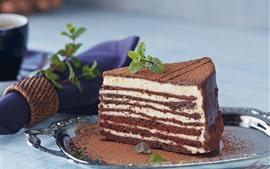 Gâteau au chocolat, couches