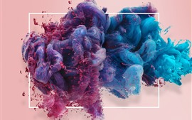 Preview wallpaper Colorful smoke, window, creative picture
