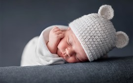 Preview wallpaper Cute baby in sleeping