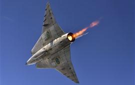 壁紙のプレビュー 戦闘機底面図、フライト