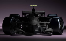 Preview wallpaper Formula 1 race car, black, front view