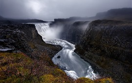 Preview wallpaper Iceland, Dettifoss, beautiful waterfall