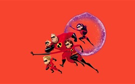 Aperçu fond d'écran Incredibles 2, film d'animation Disney